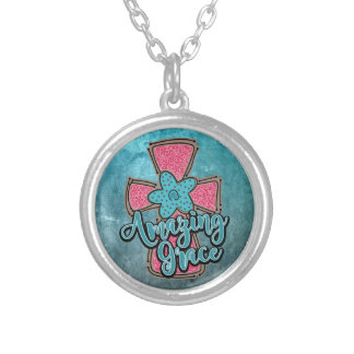 Amazing Grace Round Necklace