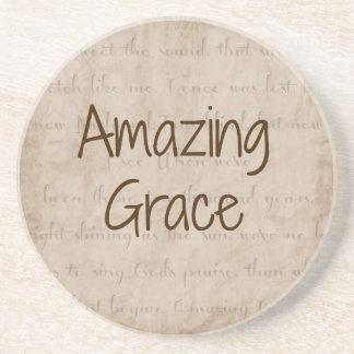 Amazing Grace Sandstone Coaster