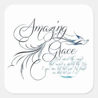 Amazing Grace Square Sticker