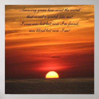 Amazing Grace Sunrise Print