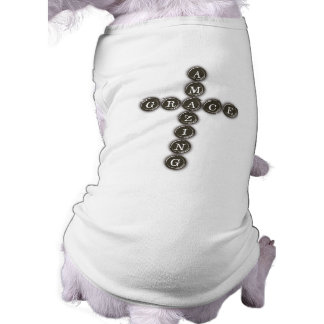 Amazing Grace Word Art Cross Pet Clothes