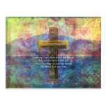 Amazing Grace words with scenic Christian painting Postcard