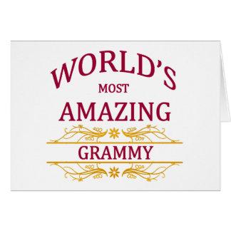 Amazing Grammy Card