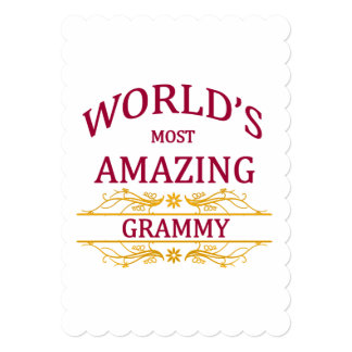 Amazing Grammy 5x7 Paper Invitation Card