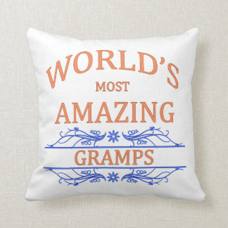 Amazing Gramps Throw Pillow