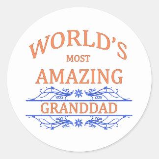 Amazing Granddad Classic Round Sticker