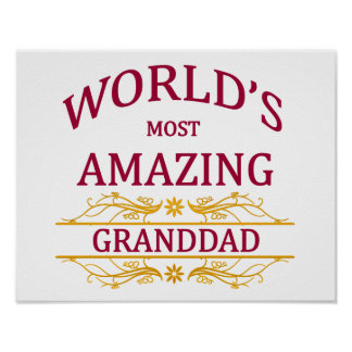 Amazing Granddad Poster