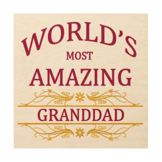 Amazing Granddad Wood Wall Decor