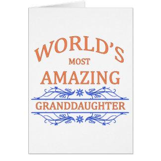Amazing Granddaughter Card