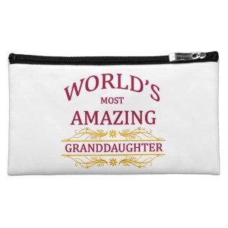 Amazing Granddaughter Makeup Bag