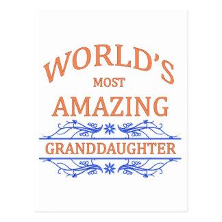 Amazing Granddaughter Postcard