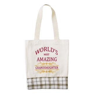 Amazing Granddaughter Zazzle HEART Tote Bag