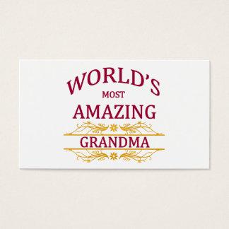 Amazing Grandma Business Card