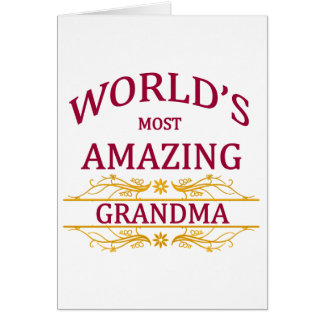 Amazing Grandma Card