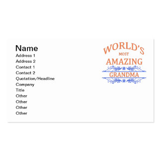 Amazing Grandma Double-Sided Standard Business Cards (Pack Of 100)