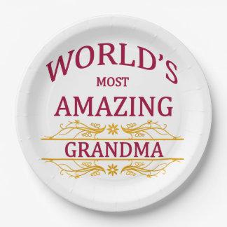 Amazing Grandma Paper Plate