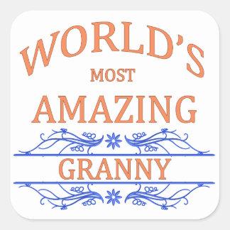 Amazing Granny Square Sticker