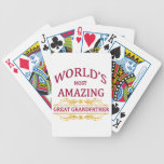 Amazing Great Grandfather Bicycle Playing Cards