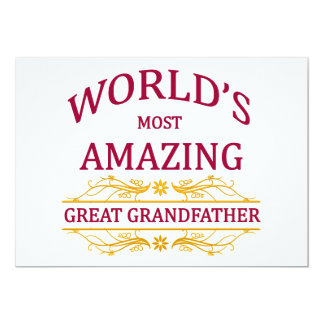 Amazing Great Grandfather Card