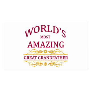 Amazing Great Grandfather Double-Sided Standard Business Cards (Pack Of 100)