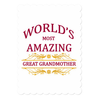 Amazing Great Grandmother Card