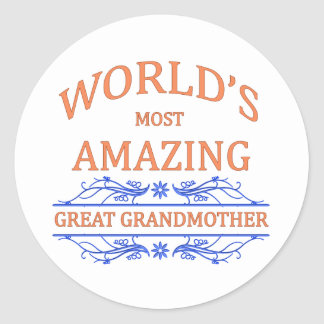 Amazing Great Grandmother Classic Round Sticker