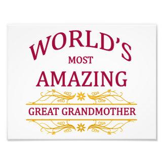Amazing Great Grandmother Photo Print