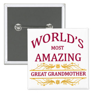 Amazing Great Grandmother Pinback Button
