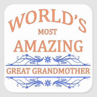 Amazing Great Grandmother Square Sticker