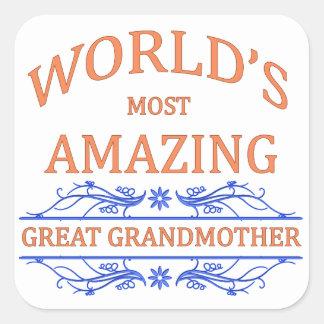 Amazing Great Grandmother Square Sticker