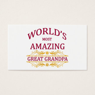 Amazing Great Grandpa Business Card