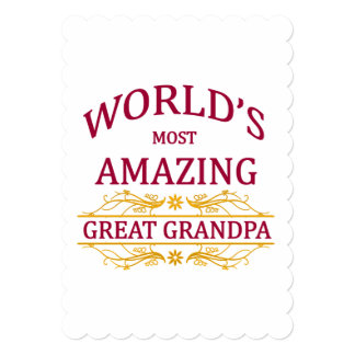 Amazing Great Grandpa Card