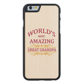 Amazing Great Grandpa Carved® Maple iPhone 6 Slim Case