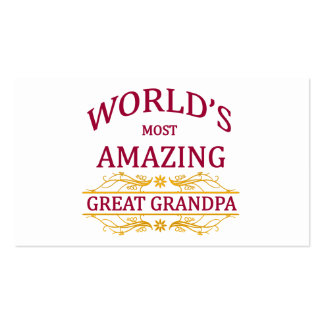 Amazing Great Grandpa Double-Sided Standard Business Cards (Pack Of 100)