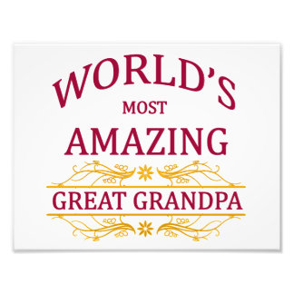 Amazing Great Grandpa Photo Print