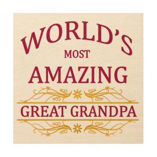 Amazing Great Grandpa Wood Wall Decor