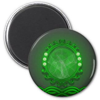 Amazing green design 2 inch round magnet