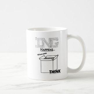Amazing Happens When You Think Outside The Box Coffee Mug