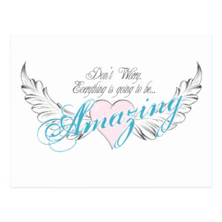 Amazing Heart and Wings Postcard