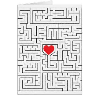 Amazing heart greeting card