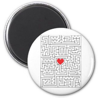 Amazing heart 2 inch round magnet