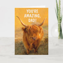 Amazing Highland Steer Father's Day Card