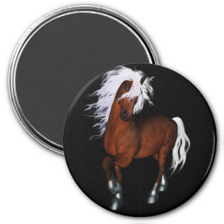 Amazing horse 3 inch round magnet
