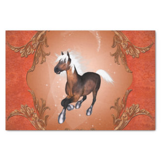 """Amazing horse in optics painted with white mane 10"""" x 15"""" tissue paper"""