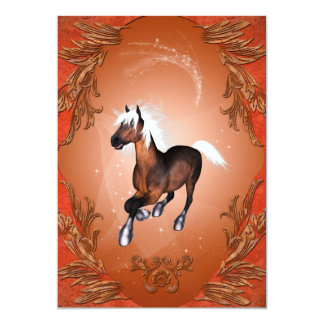 Amazing horse in optics painted with white mane 5x7 paper invitation card