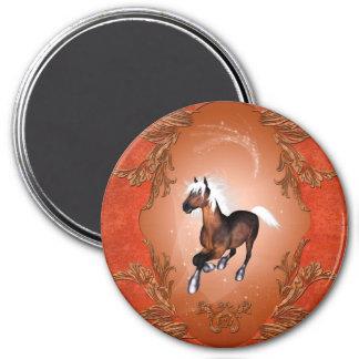 Amazing horse in optics painted with white mane fridge magnets