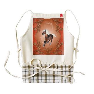 Amazing horse in optics painted with white mane zazzle HEART apron