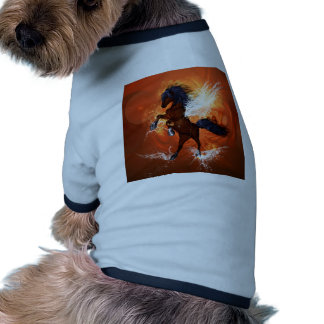 Amazing horse with fire and water dog tee