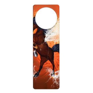 Amazing horse with fire and water door knob hangers