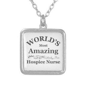 Amazing Hospice Nurse Silver Plated Necklace